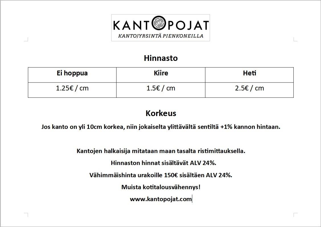 Kantojyrsintä-hinta-Oulu